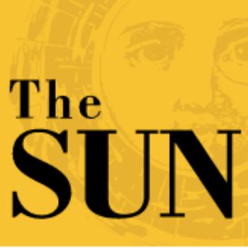 The yellow logo of the Sun magazine