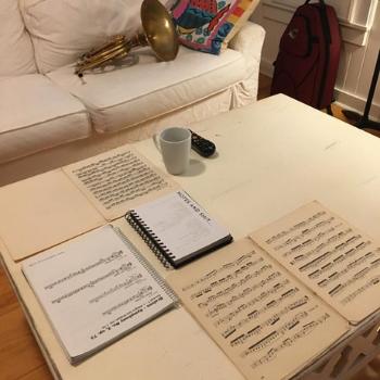 Hannah's music on a white table