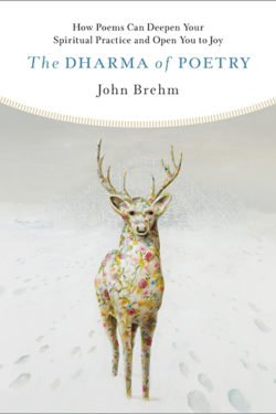 The Dharma of Poetry book cover has a stag, staring at the reader